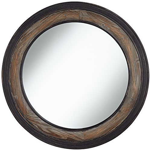 Park Round Mirror (Jordan Two-Toned Wood 30 3/4