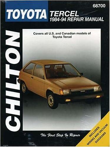 toyota tercel 1984 94 chilton total car care series manuals rh amazon com 94 Toyota Tercel MPG 92 Toyota Tercel