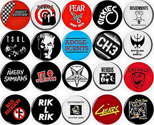 Punk Button pin Set of 20 1