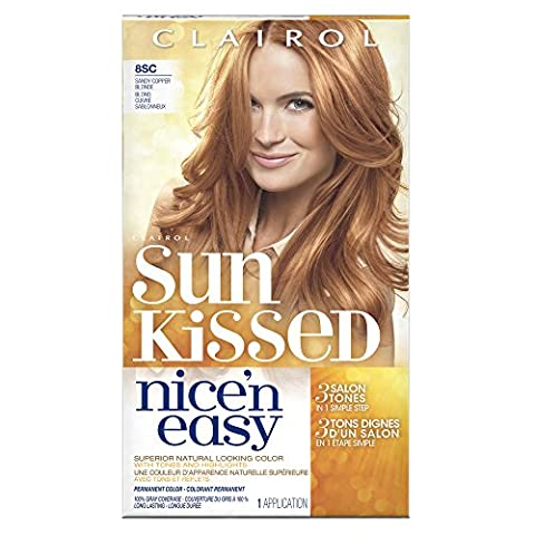 Clairol Nice 'n Easy, 8SC Sandy Copper Blonde, Permanent Hair Color, 1 Kit ()