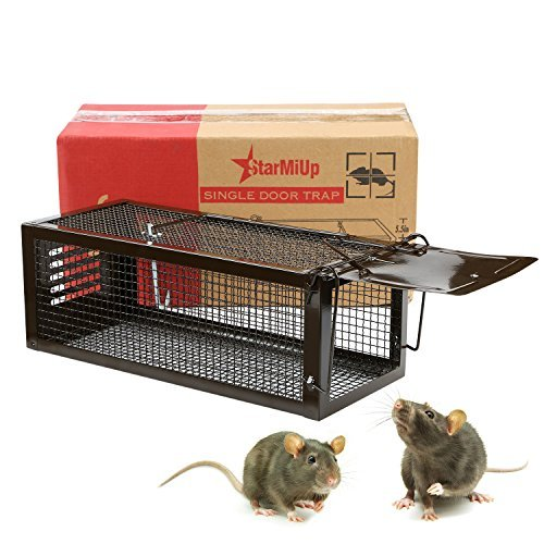 StarMiUp Rat Trap - Small Animal Humane Live Cage Catches Rats, Mice, Hamsters, Chipmunks and Other Small Rodents (A Setting Trap Live)