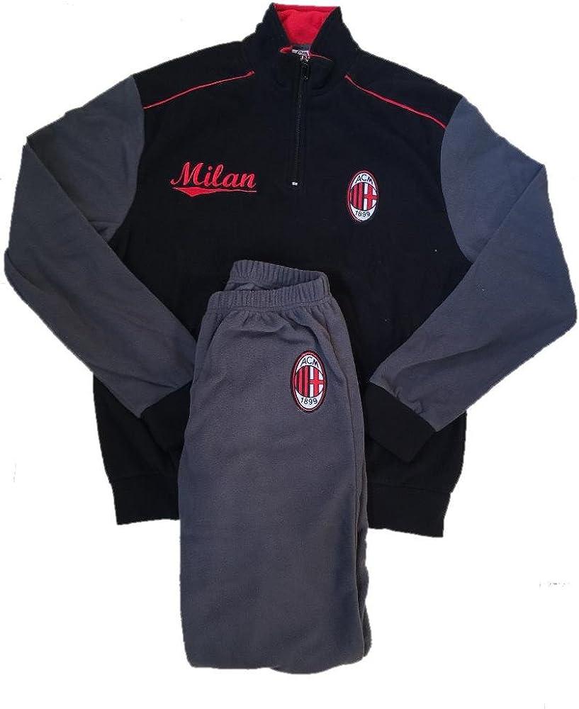 Pigiama Milan in Pile Abbigliamento Uomo Ufficiale AC Milan PS ...