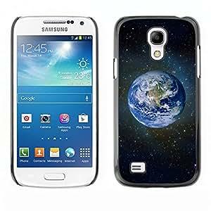 TECHCASE**Cubierta de la caja de protección la piel dura para el ** Samsung Galaxy S4 Mini i9190 MINI VERSION! ** Planet Earth Blue Space Stars Universe Cosmos