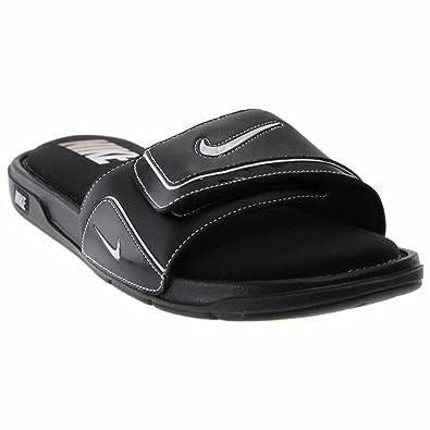 jakość wykonania Trampki 2018 kupować tanio Nike Men's Comfort Slide 2, Black/Metallic Silver/White 7 D - Medium