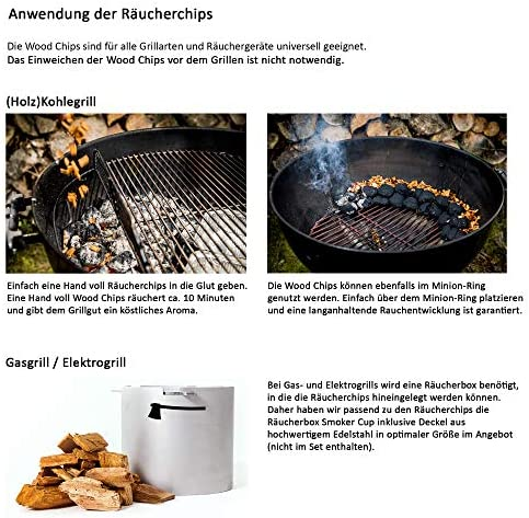 """smoker Räucherchips Wood Puces Räucherholz puces /""""Chêne/"""" 450 G Bbq"""