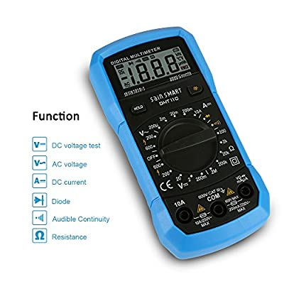 SainSmart DMT Series Digital Multimeter, Amp/Ohm/AC DC Volt Meter with Diode,Continuity, Capacitance Test
