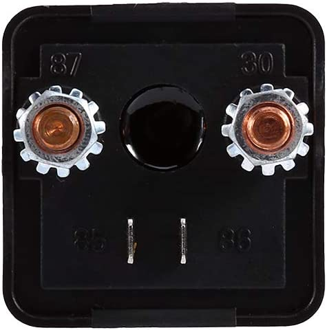 Keenso Neue 12 V 200A 4 Pin Auto Relais Schwarz Heavy Duty Split Ladung EIN//AUS Schalter Relais Auto Auto Boot 200Amp