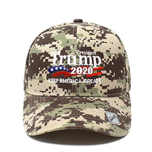 (ChoKoLids Trump 2020 Keep America Great Campaign Embroidered USA Hat   Baseball Bucket Trucker Cap (Ball Cap Desert Camo))
