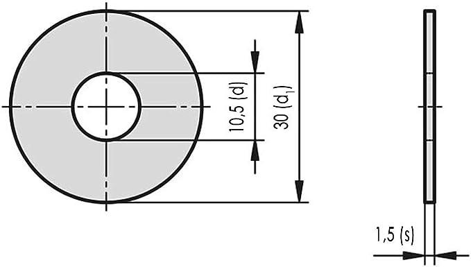 10x carrosserie DISQUES//RONDELLES m12.5x35 Acier Inoxydable Norme a2 L 9022