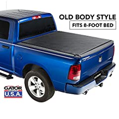 The Gator ETX roll-up truck bed tonneau cover protects your cargo from the elements when you need it, and allows for full use of your truck bed when you don't. Heavy-duty latching provides enhanced security, and the industrial-strength leathe...