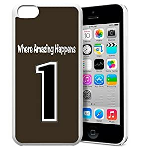 GXFC Case Unique Design Basketball Sportsman Uniform Where Amazing Happens 1 Pattern HD Durable Hard Plastic Case Cover for iphone 5c