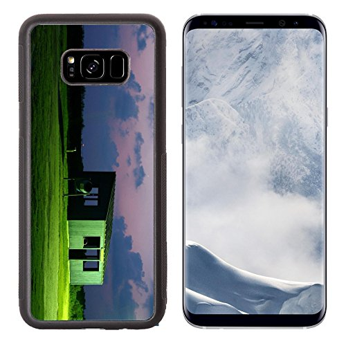 Liili Premium Samsung Galaxy S8 Plus Aluminum Backplate Bumper Snap Case fish cleaning hut near the Gulf of Mexico after sunset Photo 4336123 Simple Snap - Sunset Hut