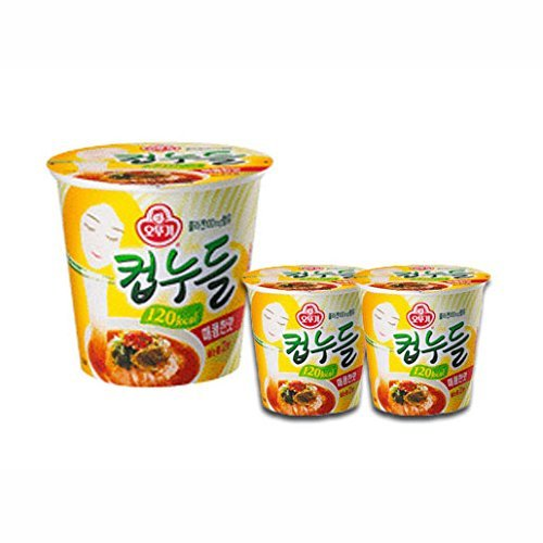 Diet System - OTTUGI Korean Instant diet ramen low calories 120kcal diet snack,hot soup noodle (Spicy Noodles Flavour, 120kcal X 15pcs)