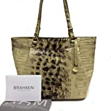 NEW AUTHENTIC BRAHMIN MALIA LARGE CARRYALL EXOTIC LEATHER TOTE (Summer Tortoise Melbourne) (Summer Tortoise)