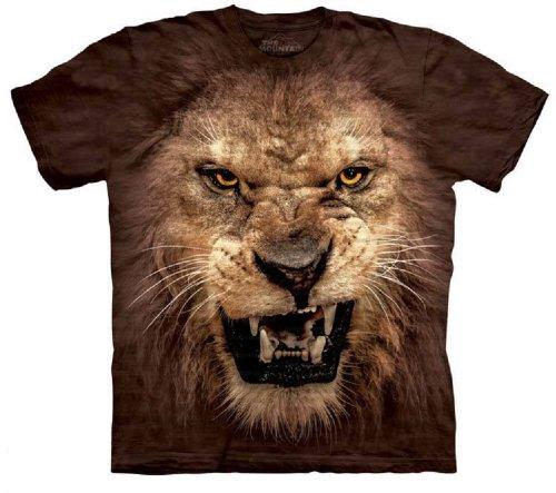 The Mountain Big Face Roaring Lion Adult T-shirt 4XL