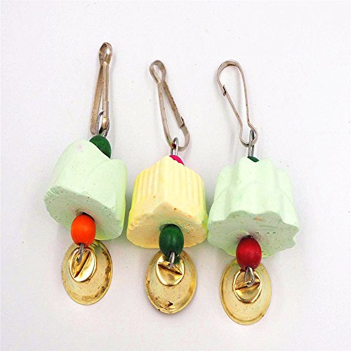 Hapa Teeth Grinding Chew Bird Toys - Parrot Chewing Toy Grinding Molar Stones Cage Toys for Small Animals Mouse Rabbit,Color Random(7 PCS) by Hapa (Image #6)
