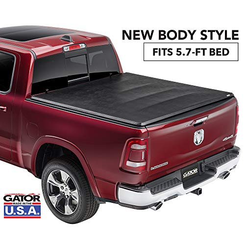 Gator ETX Soft Tri-Fold Truck Bed Tonneau Cover | 59421 | fits Dodge Ram 2019 (5 ft 7 in bed) - does not fit RamBox, New Body -