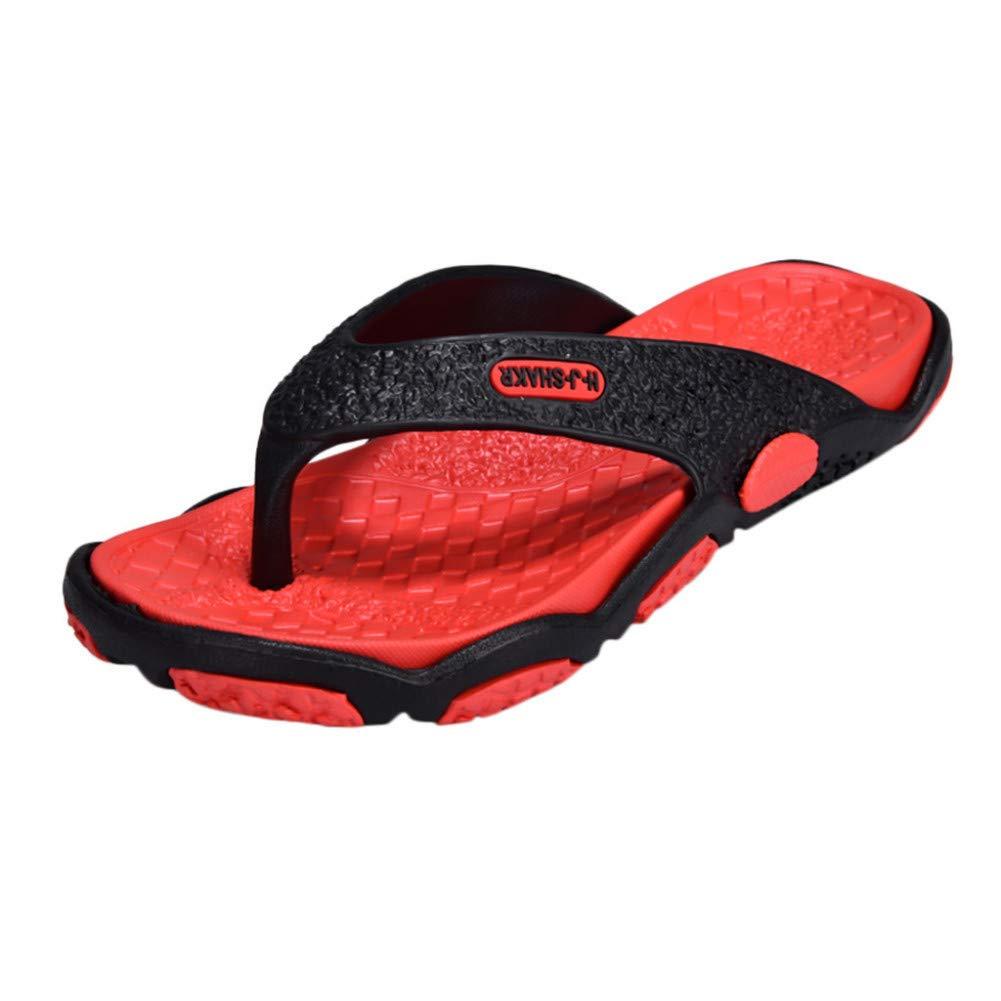 DAIDAITX Pantoufles Tongs pour Hommes Plage Sandales Plates Pantoufles De Créateurs Chaussures Été Chaussures Coulissantes Sabots en Caoutchouc