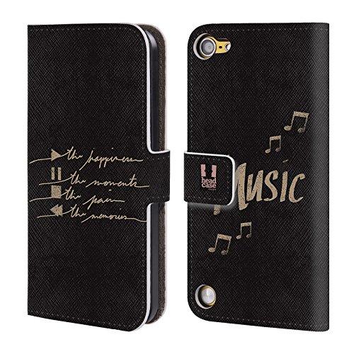 Head Case Designs Tasti All About Music Cover a portafoglio in pelle per iPod Touch 5th Gen / 6th Gen