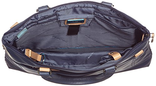 Piquadro Cartella, Collezione Altair, in Pelle e Tessuto, 39 cm, Blu