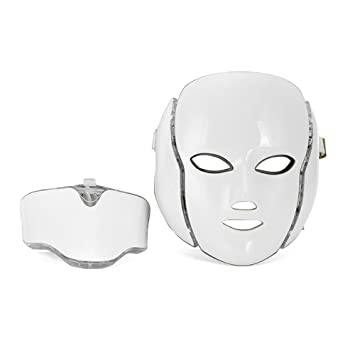 BYETOW Máscara LED Facial 7 Color Luz Fotón Apriete Los Poros Rejuvenecimiento De La Piel Anti