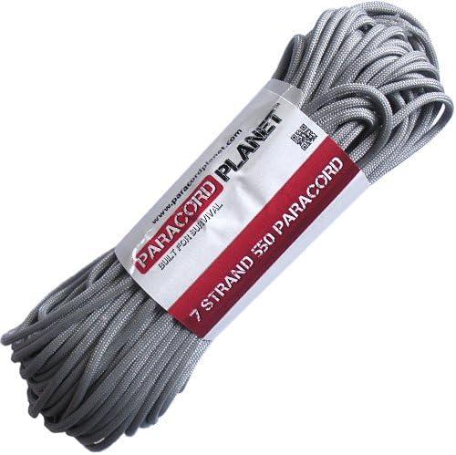 Silver Grey 1000 Foot Spool 550 Paracord Rope 7 strand Parachute Cord