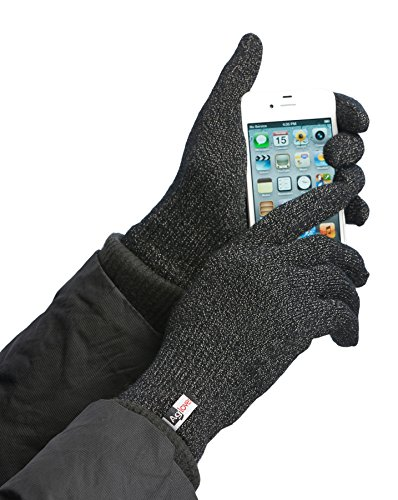 Agloves Unisex Sport Touchscreen Gloves, Black, Small/Medium (Nylon Finger Trap)
