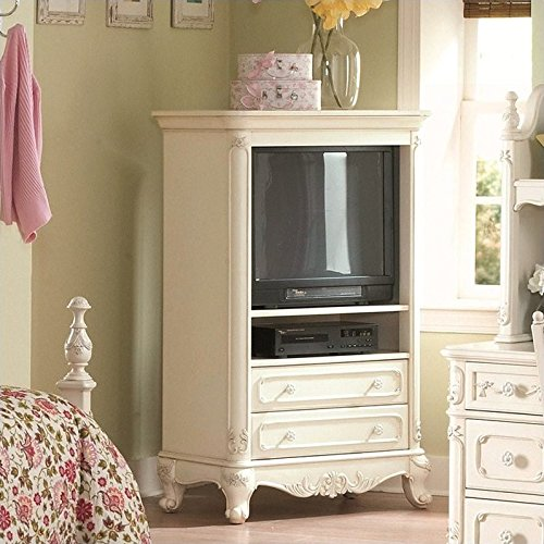 Homelegance Cinderella White TV Armoire for (Tv Armoire Furniture)