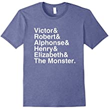 Mary Shelley - Frankenstein Character List T-Shirt