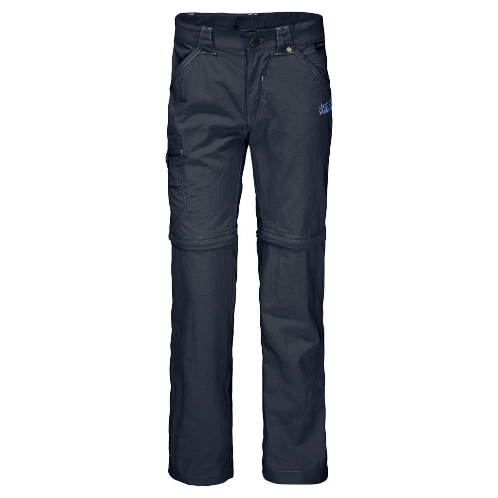 Jack Wolfskin Safari Zip Off Pants (Little Big Kid), Night Blue, 128 (7-8 Years Old)