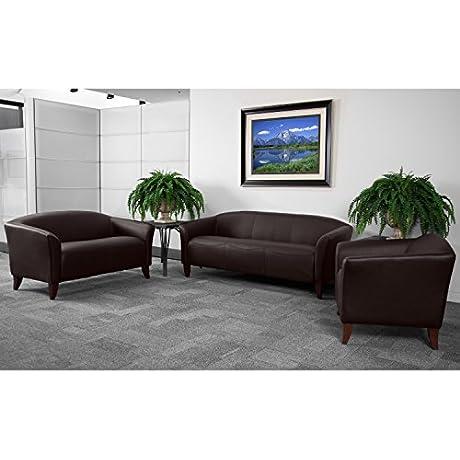 Flash Furniture HERCULES Imperial Series Reception Set In Brown