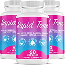 Rapid Tone Weight Loss Pills Supplement - Burn Fat Quicker - Carb Blocker, Appetite Suppressant, Fat Burner - Natural Thermogenic Extreme Diet Fast WeightLoss for Women Men (3 Month Supply)
