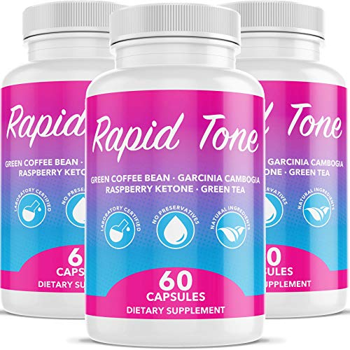 Rapid Tone Weight Loss Pills Supplement – Burn Fat Quicker – Carb Blocker, Appetite Suppressant, Fat Burner – Natural Thermogenic Extreme Diet Fast WeightLoss for Women Men 3 Month Supply