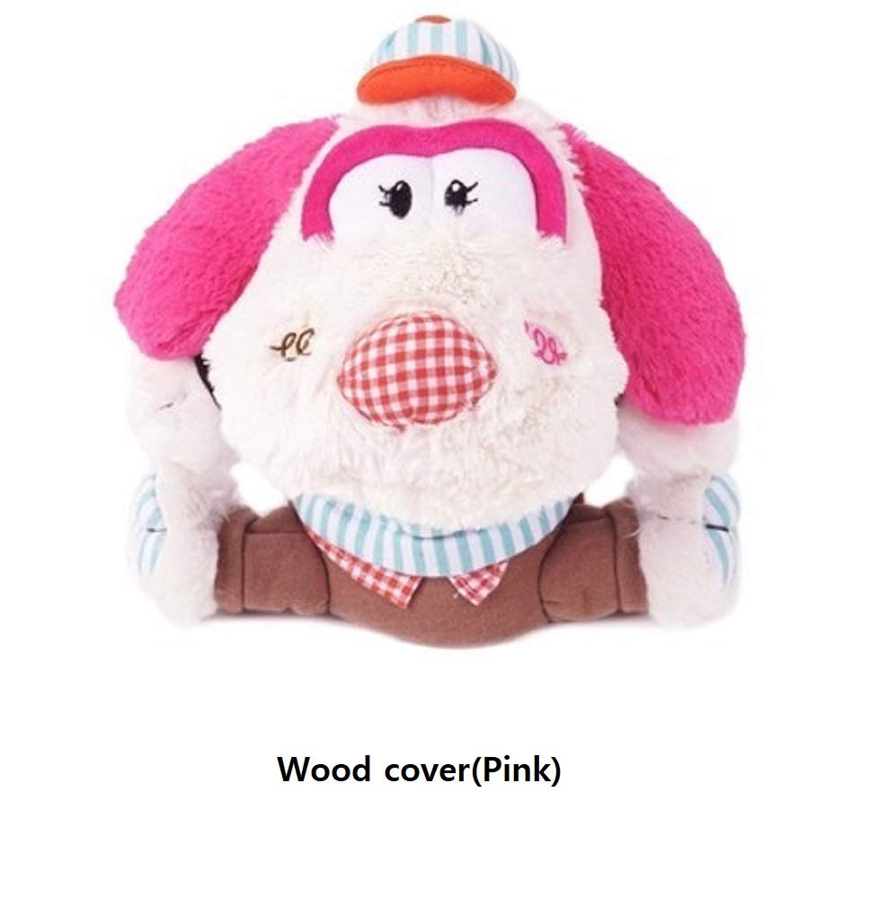 Colly's Golf キャラクターカバー ピンク  Wood Cover B07PQK6XCD