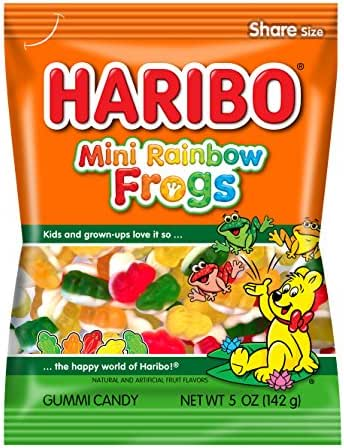 Gummy Candies: Haribo Mini Rainbow Frogs