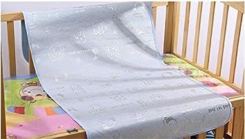 Baby Summer Sleeping Mat Breathable Safe Cool Bamboo Silk Flat Mattress Pads Toddler Infant Folding Bedding Cushion Crib Cot Cozy Nap Pads Light Blue