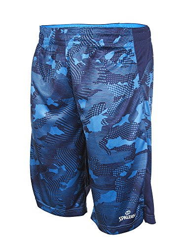 Spalding Mens Basketball Extreme Camo Poly Interlock Short Blue S