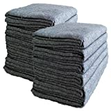 GHP 24Pcs 1.66lbs 54''x72'' 3mm Textile Grey Moving Blankets