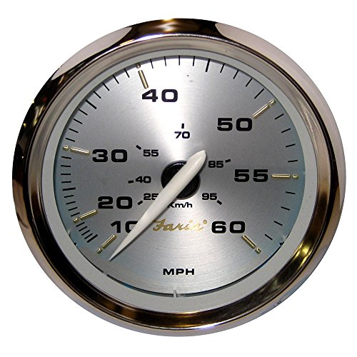 Faria Kronos 4'' Speedometer - 60MPH (Mechanical) by Faria Beede Instruments
