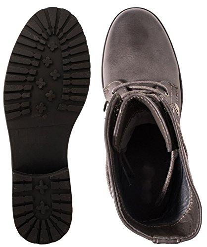 Elara motero estilo botas Mujer Gris TnwTrH4q