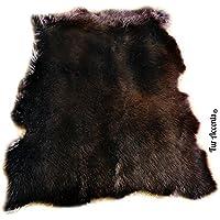 Tattered Edge Shag Rug - Plush Faux Fur Sheepskin - Rectangle - Designer Carpet by Fur Accents (5x8, Brown)