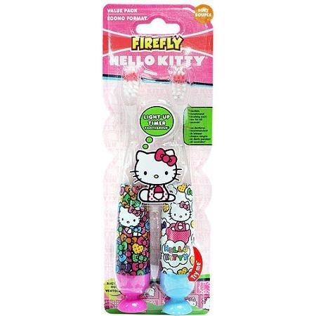 Firefly Hello Kitty Light-Up Timer Toothbrush, Soft, 2 count