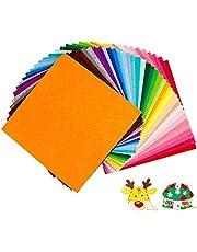 Felt Fabric Non-woven, 40 Colors Super Soft Squares Felt Fabric for Diy Decoration and Handmake Craft