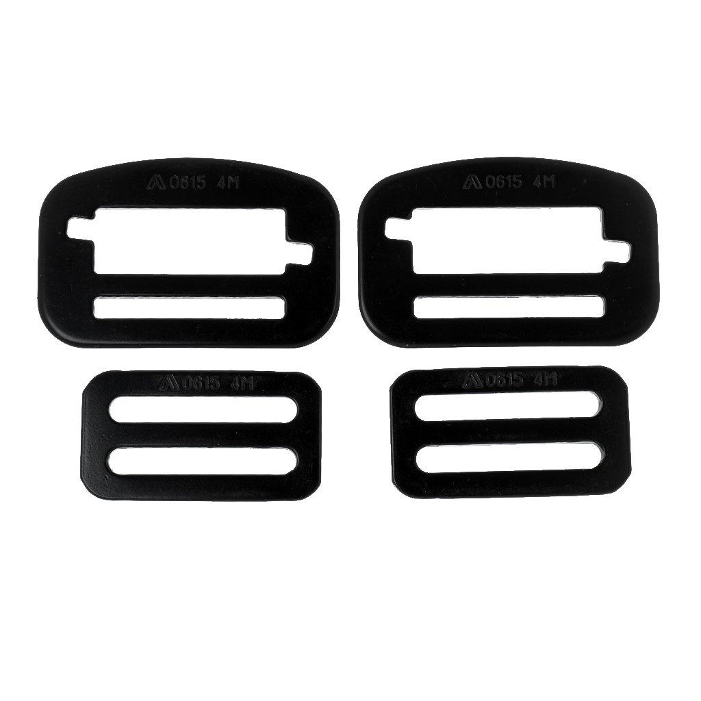 MagiDeal 2 Paar Sicherheitsg/ürtelschnallen Stahlverschluss Verschlussclip Klettergurte Sicherheitsgurte Schnallen