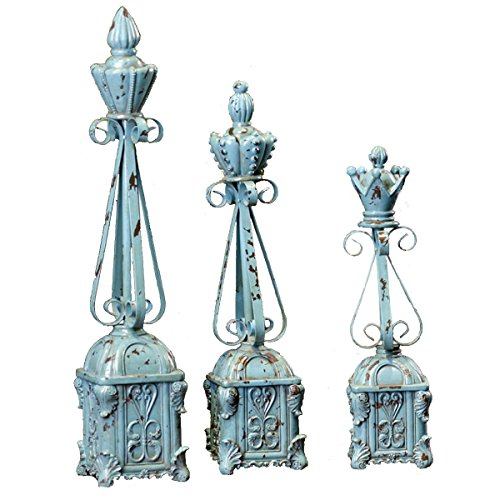 DEAI Elegant Vintage Resin Pagoda Style Imitation Iron Shape Carving Pattern Crafts Office Home Decorations Gift Lovely Sculpture Art