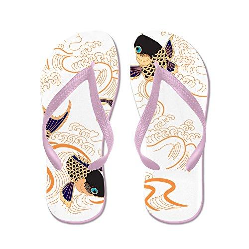 Cafepress Koi - Fish - Tattoo - Asian - Japanese - Decoratio - Infradito, Divertenti Sandali Infradito, Sandali Da Spiaggia Rosa