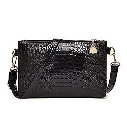 Messenger Bag Women Handbag Crossbody Leather Solid Woman Crossbody Bag Female Pu Leather Sac A Main Handbags D Black 23 X 15 X 4 Cm