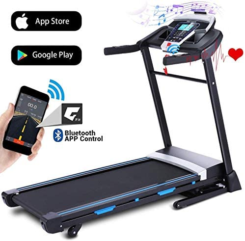 ANCHEER 3,25HP Folding Treadmill, Automatic Incline Treadmill, Walking Running Jogging Running Machine with APP Control for Home Gym Cardio Fitness