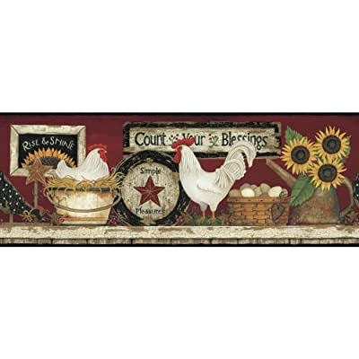 York Wallcoverings Hen And Rooster Border