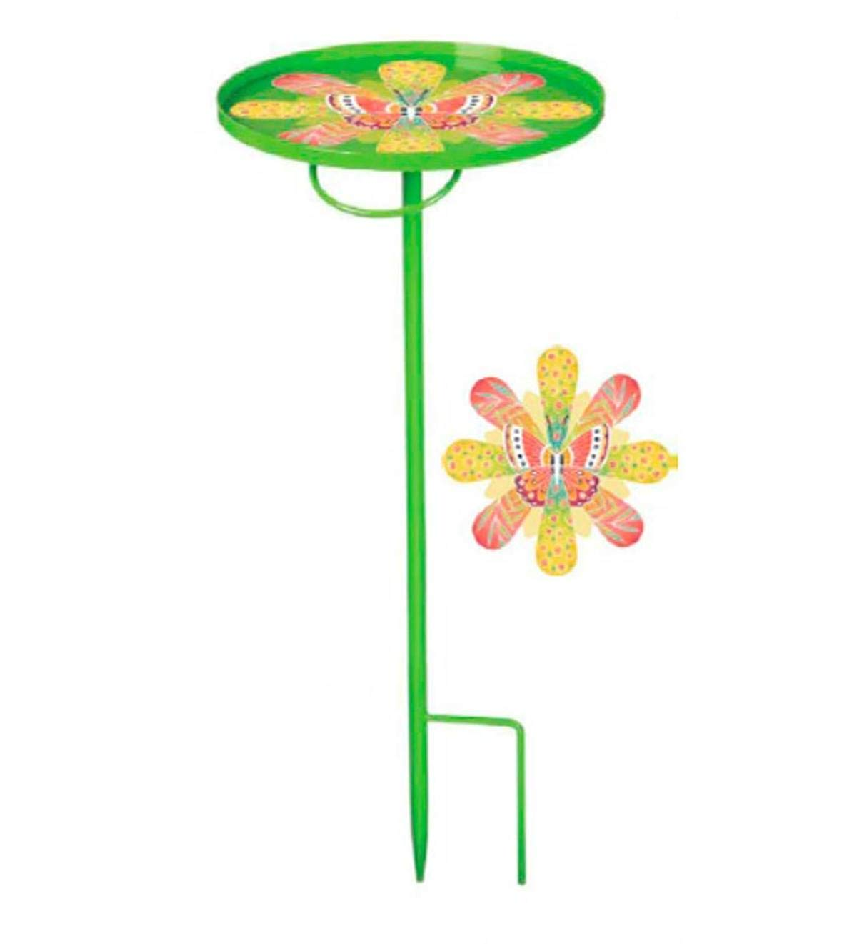 Wind & Weather Green Portable Garden Stake Table - 12 Dia. x 28 H